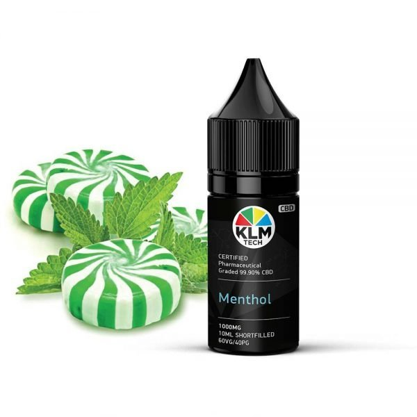 1000MG - MENTHOL FLAVOUR - 10ML - CBD ELIQUID & VAPE OIL | 60 VG / 40 PG