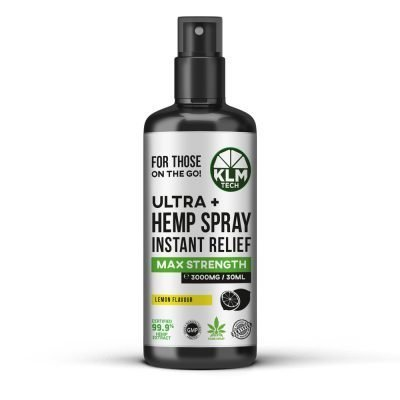 CBD Ultra+ Hemp Spray Instant Relief 3000mg (Lemon Flavour)
