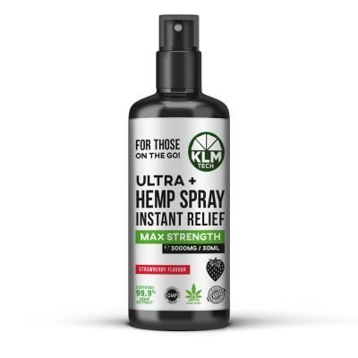 CBD Ultra+ Hemp Spray Instant Relief 3000mg (Strawberry Flavour)