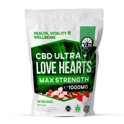 CBD Love Hearts Sweets | 1000MG | CBD Sweets UK