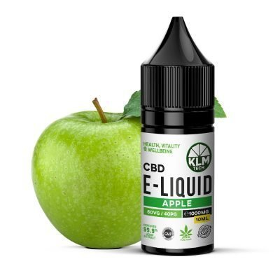 1000MG - APPLE FLAVOUR - 10ML - CBD ELIQUID & VAPE OIL | 60 VG / 40 PG