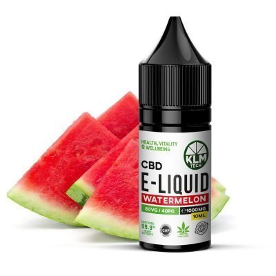 1000MG - WATERMELON - 10ML - CBD ELIQUID & VAPE OIL | 60 VG / 40 PG - £14.99