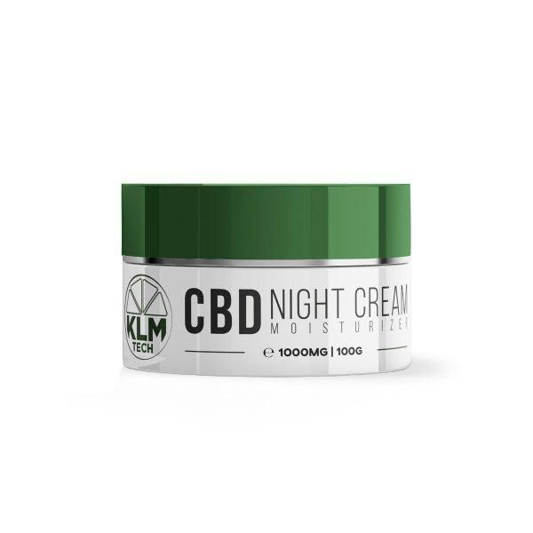 CBD Night Cream Moisturizer | 1000mg | 10% High Strength | KLM Beauty Tech