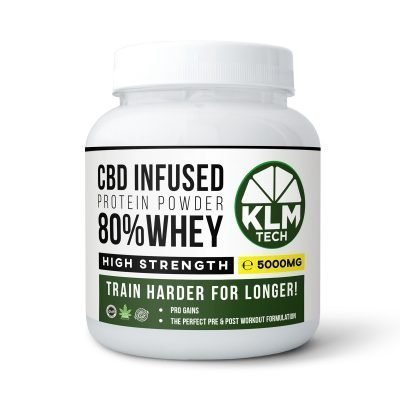 CBD Pre-Workout Energy Booster Shots | 99.9% Pure CBD | 5000MG